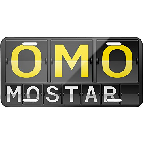 metal-license-plate-omo-airport-code-for-mostar-neonblond