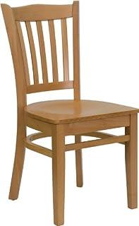 Flash Furniture HERCULES Series Vertical Slat Back Natural Wood Restaurant Chair  sc 1 st  Amazon.com & Amazon.com: Flash Furniture HERCULES Series Vertical Slat Back ...