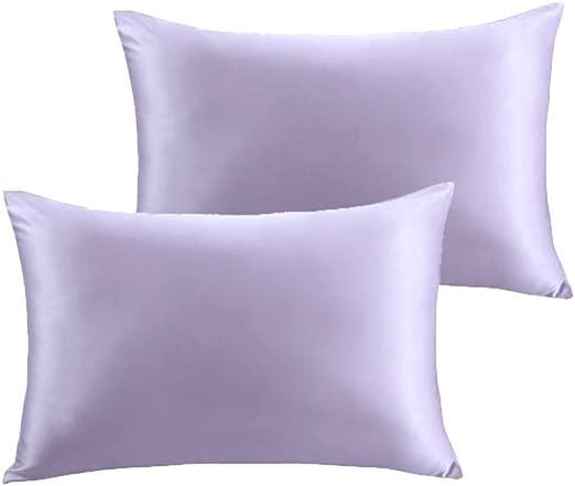 Amazon Com Furlove 2 Pack Luxury 100 Satin Pillowcase For Hair