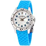 Wenger Squadron Lady Mother of Pearl Dial Silicone Strap Ladies Watch 010121102