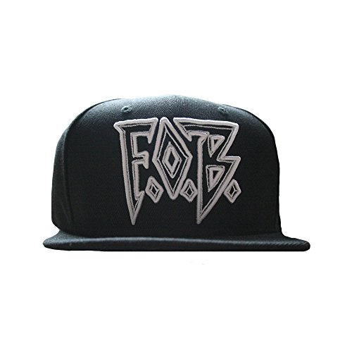 Fall Out Boy Unisex FOB Diamond Snapback One Size Black