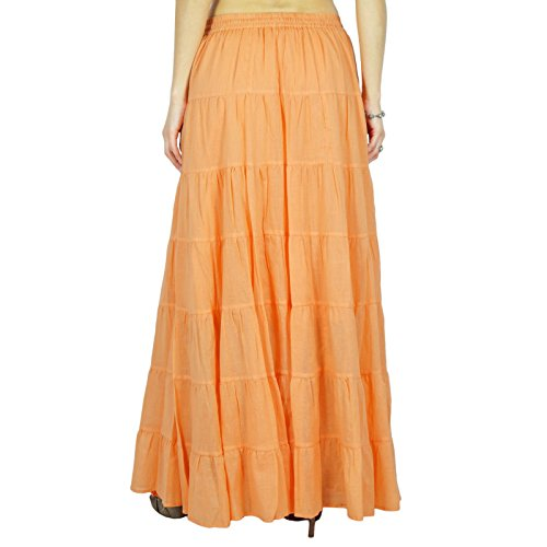 Jupe Phagun Cotton Clair Wear longue Jupe Wear Resort Orange Beach Summer Wear 6qPqgEr
