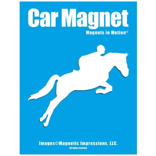 Equestrian Rider Car Magnet White