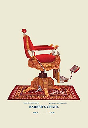 Buyenlarge-0-587-04533-7-P1827-Hydraulic-Barbers-Chair-95-Paper-Poster-18-x-27