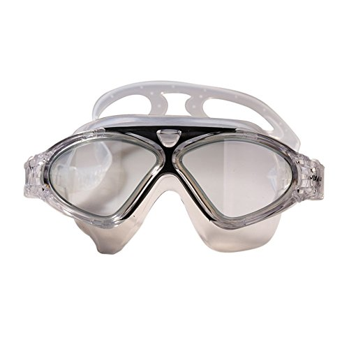 8d7da0267b4 JIEJIA Swim Goggles for Adults Stunning Large Frame with Fog Lenses Crastal  Clear Visual Effect Silicone Lens Adjustable Strap Frame Prevent Water  Entering ...