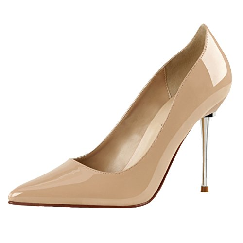 Heels-Perfect Stiletto Pumps, Damen, Beige (Nude) Beige (Nude)