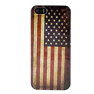 Vintage USA Amerian National Flag Black Hard Case Cover for iPhone 5/5S