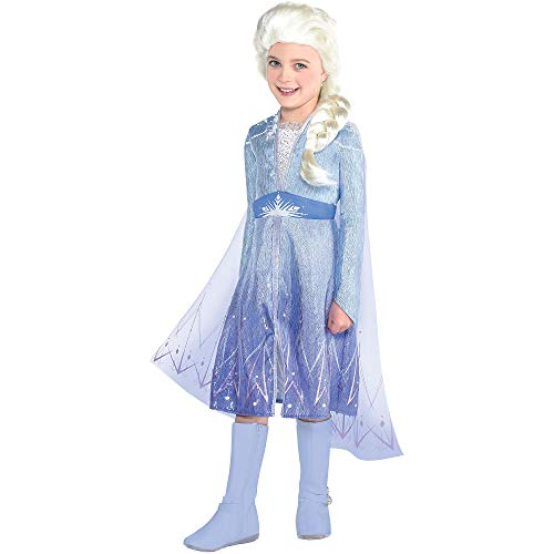 Party City Elsa Act 2 Halloween Costume for Girls, Frozen 2, 3-4T, Includes Dress