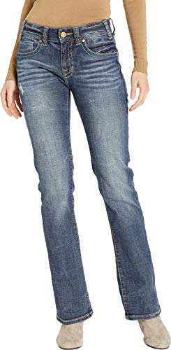 - Rock and Roll Cowgirl Women's Mid-Rise Bootcut Jeans in Dark Vintage W1-8714 Dark Vintage 32 34