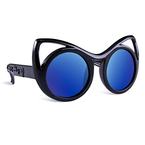 SEEKWAY Kid's Polarized Silicon Rubber Sunglasses For Toddlers Children Age 3-10 SRK8122(Black&Black,Blue Iced (Cheap Coloured Contact Lenses)