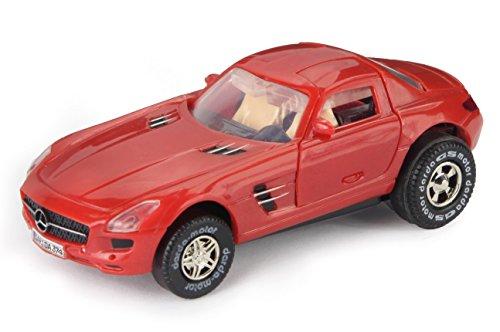 Darda 50374 Formula Racing Toy Car,Mercedes Benz SLS AMG red