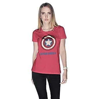 Creo Captain America Super Hero T-Shirt For Women - M, Pink