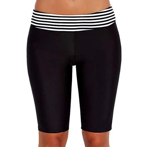 NOMUSING Womens Swim Bathing Suits for Womens Board Swimsuit Bottoms Swimming Shorts Sport Striped Beach Capris Trunks Black