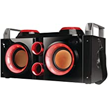 QFX PBX-505200BT RED Rechargeable Bluetooth(R) Party PA Boombox (Red) Consumer Electronics