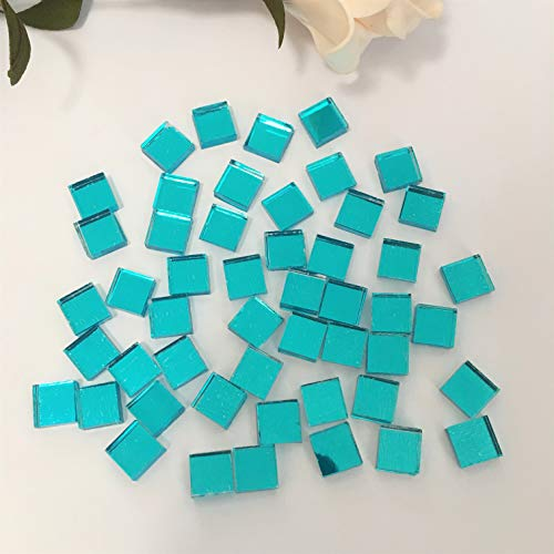 3/8 inch Small Glass Square Craft Mirrors Bulk 100 Pieces Mosaic Tiles ()