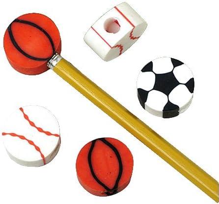 スポーツ消しゴム鉛筆トップ、24ダース販売