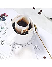 50 stks Koffiefilter Papieren Zak Voedsel Grade Opknoping Oor Druppel Koffiefilter Papieren Zak Single Serve Wegwerp Druppel Koffie Filter Zak Verdikte Koffiepoeder Zeef voor Thuiskantoor Reizen
