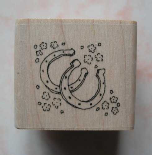 - INCA Rubber Stamp LUCKY HORSESHOES Great for Wedding Invitations & Stationery