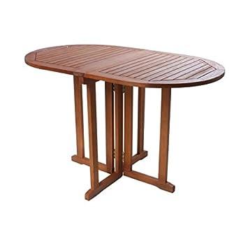 Garden Pleasure Table Pliante Roma Table de Jardin Ovale 120 x 70 cm ...