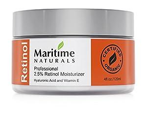 Canada's Premium Retinol Moisturizer for Face - Hyaluronic acid and vitamin A - super anti aging skin cream - Professional Grade - Organic-Face Lift in a Jar By Maritime Naturals