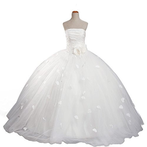 Sweetdresses Girls Ruched Strapless Wedding Gown Flowers Pageant Dresses 14 by Sweetdresses