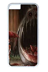 iphone 6 plus 5.5inch Case Monster And Girl Illustration PC Hard Plastic Case for iphone 6 plus 5.5inch Whtie