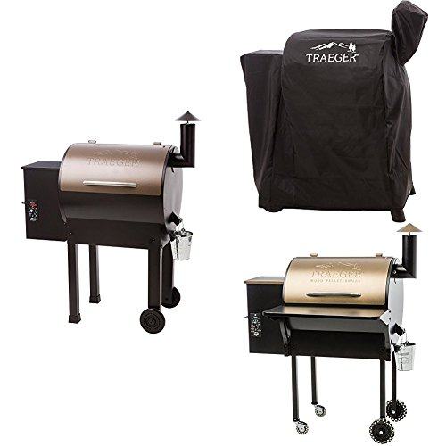 Cheapest Price! Traeger TFB42LZBC Grills Lil Tex Elite 22 Wood Pellet Grill and Smoker (Bronze), wit...