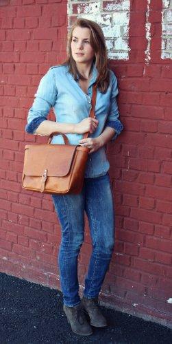 color marrón PAUL LE a Vintage bandolera piel Retro amp; vintage bandolera Bolso POSTIER S bolso estilo de MARIUS bolso mano 6rzO6x