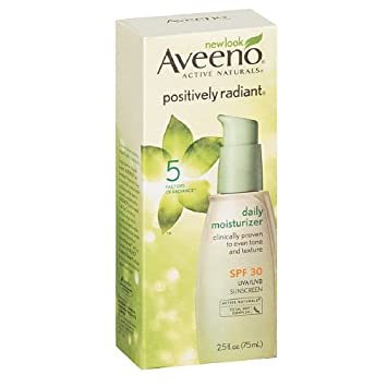 AVEENO Active Naturals Positively Radiant Daily Moisturizer SPF 30 2.50 oz Pack of 3