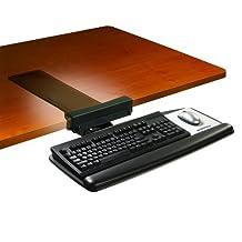 3M Ergonomic Adjustable Keyboard Tray with Tool-Free Installation, (AKT65LE)