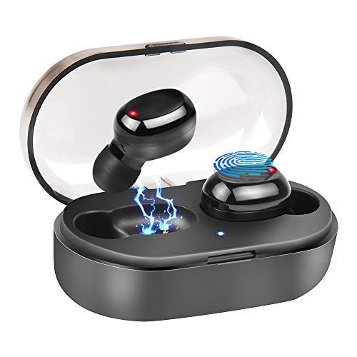 Wireless Earbuds, Bluetooth 5.0 Headphones Mini IPX7 Waterproof True Wireless Stereo Earphones Noise Canceling in-Ear Mini Earphoneswith Charging Box