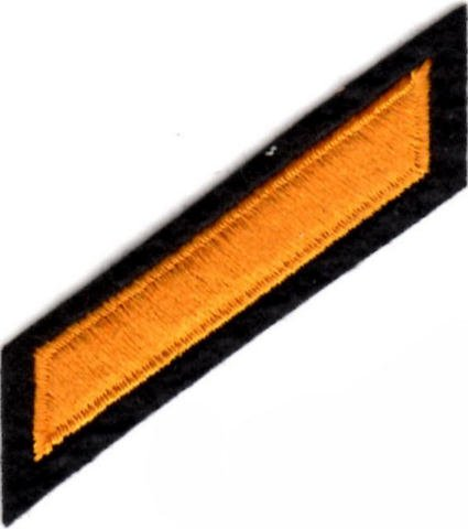Uniform Service Hash Marks - Dark Gold on Black Felt Backing - 1 Hash by EMBROIDERED UNIFORM PATCHES & EMBLEMS (Image #1)