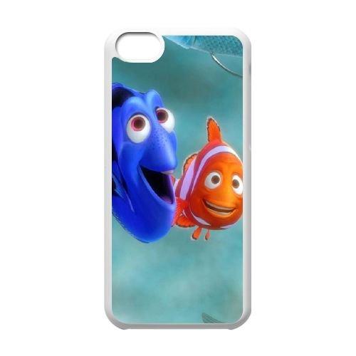Finding Dory 003 coque iPhone 5C Housse Blanc téléphone portable couverture de cas coque EOKXLLNCD10304