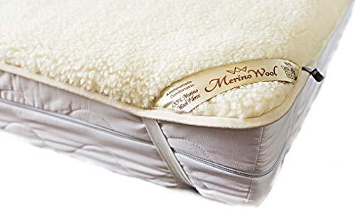 Sale ! Merino Wool Underblanket Wool Sheet Protector Mattress Topper Woolmark Under Blanket (Full XL 54