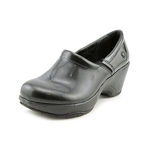 Nurse Mates Women's Bryar Black Patent Clog/Mule 8 B - (Dark Grey Patent Footwear)