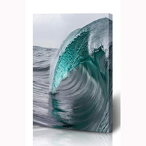 Onete Canvas Prints Painting Artwork 12x16 Energy Surf Blue Room Australia Ocean Textured Wave Big Nature Elegant Parks Outdoor Beach Fashion Wall Art Printing Home Bedroom Living Room Office Dorm (Outdoor Cheap Australia Online Furniture)