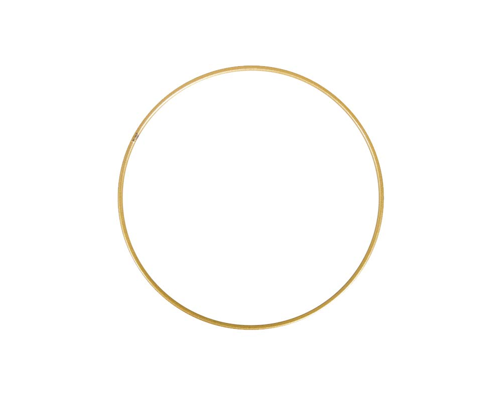 10cm Matt Gold Metal Ring for Crafts | Metal Wire & Craft Hoops Crafty Capers