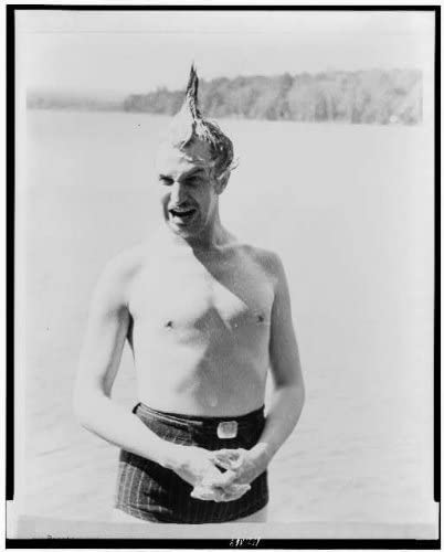 INFINITE PHOTOGRAPHS Photo: Vincent Leonard Price,1911-1993,Standing in Lake,Mouth Open,Hair Standing up