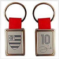 Chaveiro Flamengo Retangular Couro Zico UN