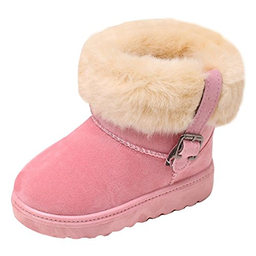 Xiting Girl's Boy Winter Snow Boots Fur Outdoor Waterproof S