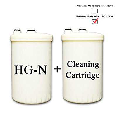 HG-N Type Compatible Replacement Filter for KANGEN Enagic Leveluk Water Ionizers + Cleaning Cartridge