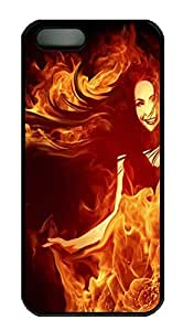 iPhone 6 4.7 Case Fire Girl Designs PC Custom iPhone 6 4.7 Case Cover Black