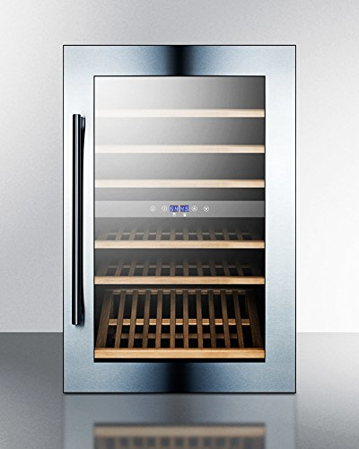 Summit VC60D Integrated Dual-Zone Wine Cellar, Glass