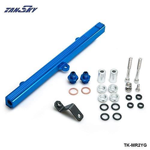 Performance Billet Aluminum Intake Fuel Injector Rail Kit For Toyota MR2 3S-GTE Blue TK-MR2YG