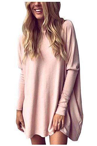 Aifer Women Casual Bat Sleeve Oversized Blouse Loose Pullover Tops Shirts