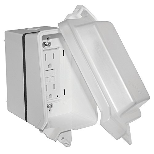 Sigma Electric 16801WH Non-Metallic While-in-Use Kit with GFCI Receptacle, White