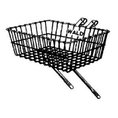 Wald 137 Front Bicycle Basket (15 x 10 x 4.75, Silver) (Basket Delivery)