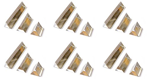 Classroom Set of Prisms - 6 Sets of (3) Equilateral Acrylic Prisms with 1in. Sides - 1in, 2in, 4in - Acrylic Equilateral Prism