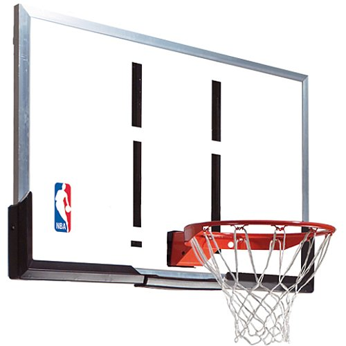 Spalding 54-Inch Backboard and Rim Combo with Acrylic Backboard (Basketball Rebounding Net)