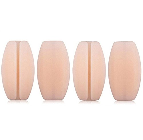 Bra Strap Cushions - Silicone Bra Strap Cushions Soft Holder Non-slip Shoulder Protectors Pads 2 Pairs (Nude)